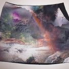 Ted Baker scuba mini skirt black with waterfall rainbow print sz TB 4/US 10 NWT