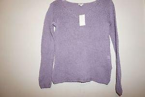 """J Jill woven loose stitch sweater purple """"wild orchid"""" size XS will fit sz S NWT"""