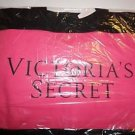 Victoria's Secret large canvas open totebag bright pink and black 21 X 14.5 NWT