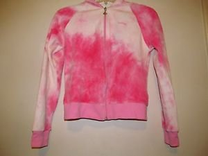 Pink tie dye Blowfish velour sweatshirt jacket hoodie front zip size 6 NWT