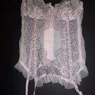 Victoria's Secret bustier corset Chantilly Lace ice pink white black sz 34C NWT