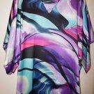 "Natori Purple Pansy ""Garland"" caftan size XS NWT retail $180"
