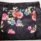 Whitney Eve black mini skirt sz L faux leather with floral print front panel new