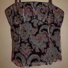 Tocca silk camisole sz 2 black with pink light blue tan ivory pattern EUC