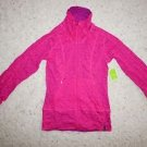 """Moving Comfort Flow Burnout Jacket """"Sweet Pea"""" size S fuchsia with violet NWT"""