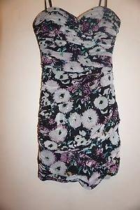 BCBG Max Azria Winnie ruched dress size 4 lavender mist floral print NWT $338