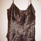 J. Crew womens brown silk tank top camisole size 2 EUC