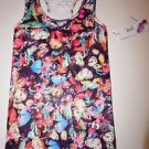 Jessica Simpson tank workout top size XS multi-color butterfly pattern NWT