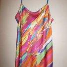 """Natori """"Palau"""" long gown size XS multi-color paint print NWOT"""