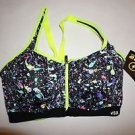 Victoria's Secret Sport Knockout front-close sport bra 34DD paint splatter NWT