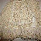 Girls Gunne Sax vintage prairie skirt cream with floral print and lace sz 6 EUC