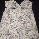 Nicole Miller Collection dress sz 4 halter sundress ivory w/ black squiggles EUC