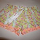 Victoria's Secret white yellow pink floral print sleep shorts size XS NWT
