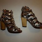 Vince Camuto Signature Odetta gladiator sandals heels metallic gold sz 8.5 NIB