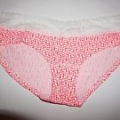 Victoria's Secret low-rise hiphugger size M coral floral pattern lace waist NWT