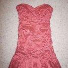 BCBG Max Azria Fleur strapless taffeta cocktail dress sz 12 coral color new $378