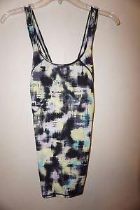 Victoria's Secret Sport Tech Tank spray paint abstract pattern sz XS or S NWT