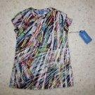 Simply Vera Vera Wang for Kohls multi-color paint streak cotton shirt sz PS NWT