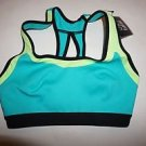 Victoria's Secret Cool-Touch sport bra sz S  turquoise/lime green back close NWT