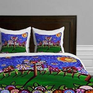 DENY Designs Renie Britenbucher Van Gogh Sky Lightweight Duvet Cover Queen new
