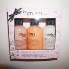 Philosophy Ice Cream Cart set/3 shower gels 6 oz each sherbet peach orange NIB