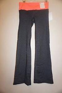 Womens GapFit flex bootcut pants leggings sz S gray with coral waistband NWT