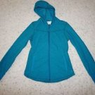 "REI Greenlake Fleece Jacket with hood teal turquoise ""Indian Ocean"" size XS NWT"