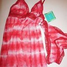 Calypso St. Barth for Target red tie dye cami/panty set size XS NWT