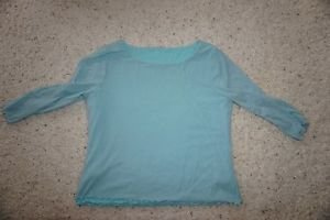 J. Jill double-layer reversible blouse top turquoise/light blue size XL EUC