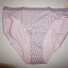 Victoria's Secret cotton high-leg brief sz M light pink with gray flowers NWT