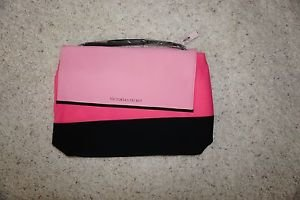Victoria's Secret Insulated Beach Cooler Bag Shoulder Tote pink & black NWT