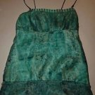Laundry Shelli Segal silk camisole sz XS pale green turquoise brown paisley EUC