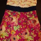 Maeve strapless sundress Blissful Days pink yellow floral navy sash size 6 EUC