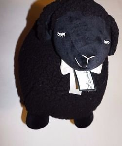 "Bath & Body Works Lambie black plush stuffed animal fluffy lamb large 18"" NWT"