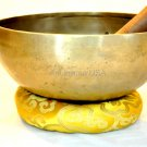 "Tibetan Singing Bowl ~ 8"" Hand hammered Chakra Buddhist Meditation free mallet"