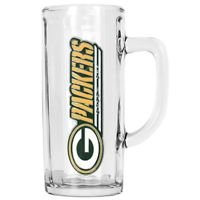 NFL Green Bay Packers Beer Mug Heavyweight Glass Tankard Handcrafted New