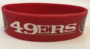 NFL San Francisco 49ers Rubber Silicone Bracelet Red Licensed New OSFM