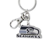NFL Seattle Seahawks Metal Heavyweight Keychain Keyring Lobster Claw Authentic