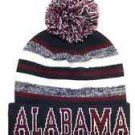 Alabama City Beanie Color PomPom Hat Winter Knit w POM Ribbed Cuff