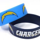 San Diego Chargers Rubber Bracelets 2 Pack Silicone Wristbands OSFM Licensed New