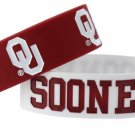 Oklahoma Sooners Rubber Bracelets 2 Pack Silicone Wristbands OSFM Licensed New