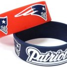 New England Patriots Rubber Bracelets 2 Pack Silicone Wristbands Licensed New