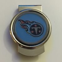 NFL Tennessee Titans Stainless Steel Money Cash Clip Holder Authentic New