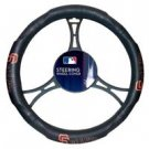 MLB San Francisco Giants Steering Wheel Cover Black with Embossed Logo Authentic