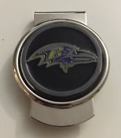 NFL Baltimore Ravens Stainless Steel Money Cash Clip Holder Authentic New