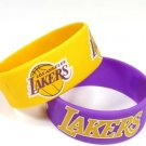 Los Angeles Lakers Rubber Bracelets 2 Pack Silicone Wristbands OSFM Licensed New