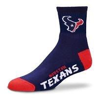 NFL Houston Texans High Ankle Quarter Length Socks Adult Size 10-13 Authentic