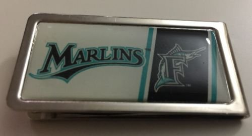 MLB Florida Marlins Stainless Steel Money Cash Clip Holder Authentic New