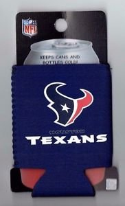 NFL Houston Texans Football Can Koozie Coozie Drink Holder Authentic New Navy