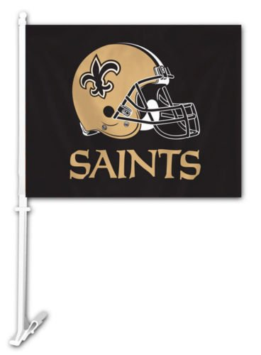 NFL New Orleans Saints Window Flag Car Auto Truck  Banner Pole Two 2 Sided New